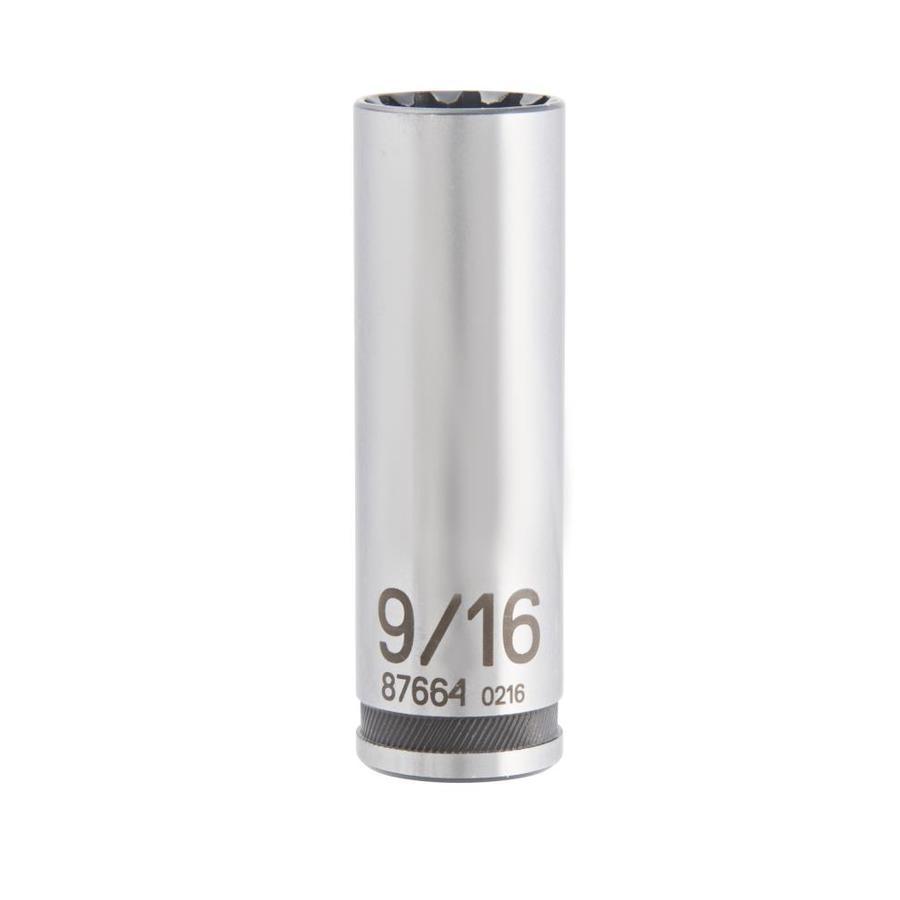 Kobalt 3/8-in Drive 9/16-in Deep Spline Standard (SAE) Socket