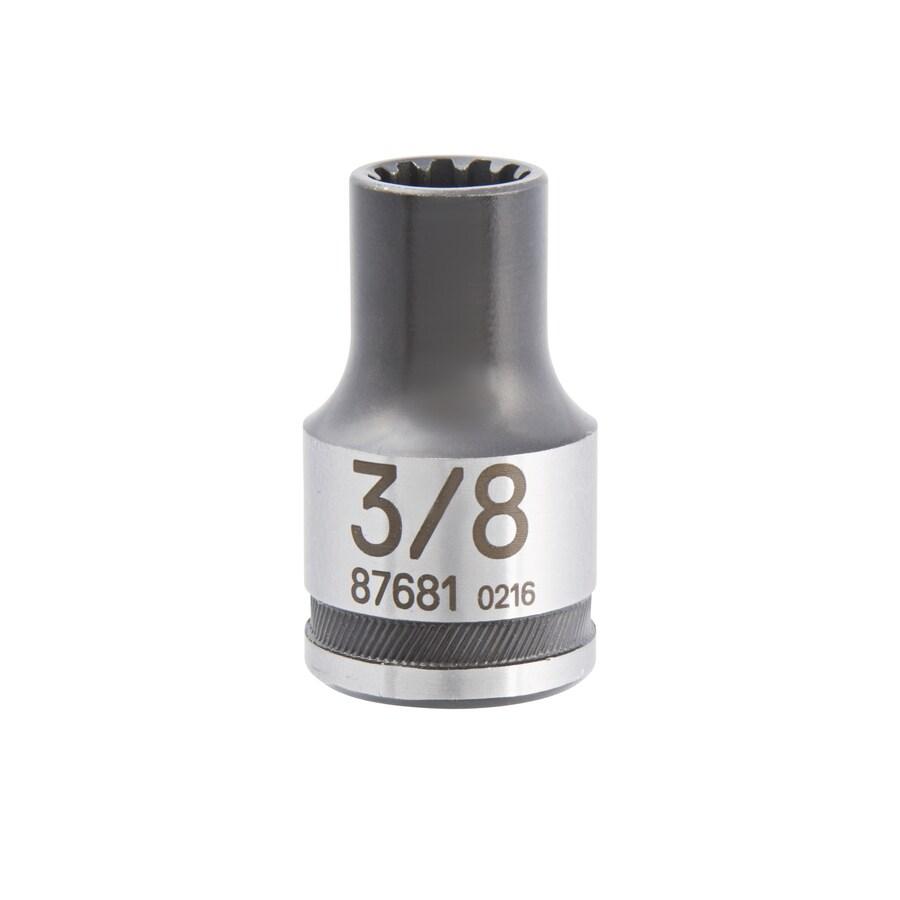 Kobalt 1/2-in Drive 3/8-in Shallow Spline Standard (SAE) Socket