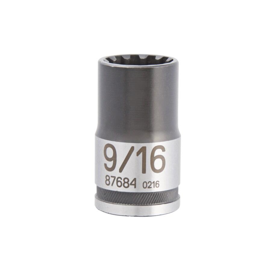 Kobalt 1/2-in Drive 9/16-in Shallow Spline Standard (SAE) Socket
