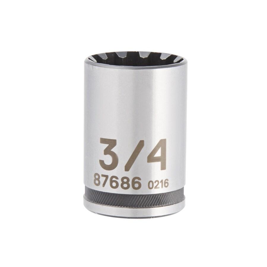 Kobalt 1/2-in Drive 3/4-in Shallow Spline Standard (SAE) Socket