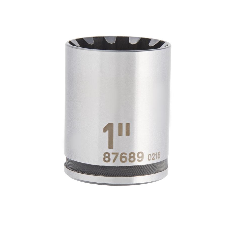 Kobalt Universal 1/2-in Drive 1-in Shallow Spline Standard (SAE) Socket