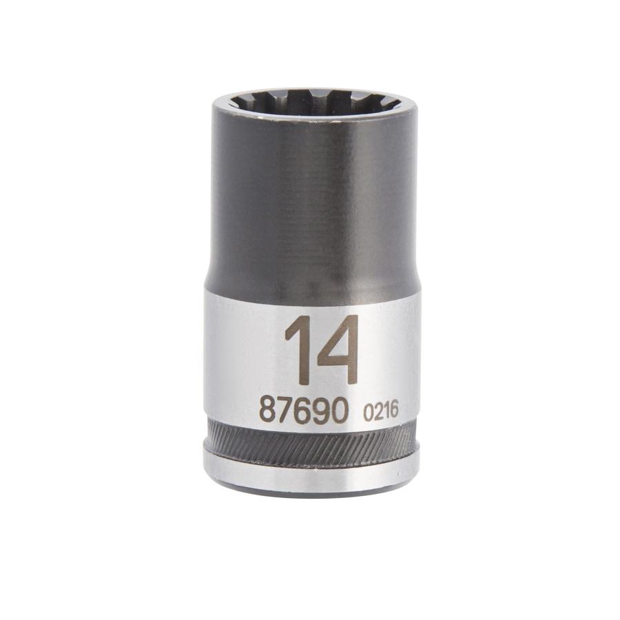 Kobalt 1/2-in Drive 14mm Shallow Spline Metric Socket