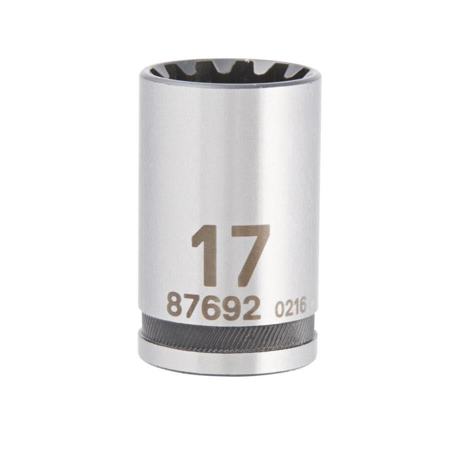 Kobalt 1/2-in Drive 17mm Shallow Spline Metric Socket