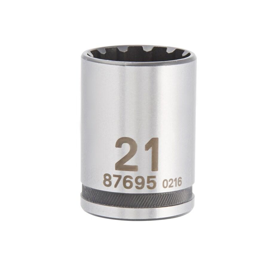 Kobalt 1/2-in Drive 21mm Shallow Spline Metric Socket