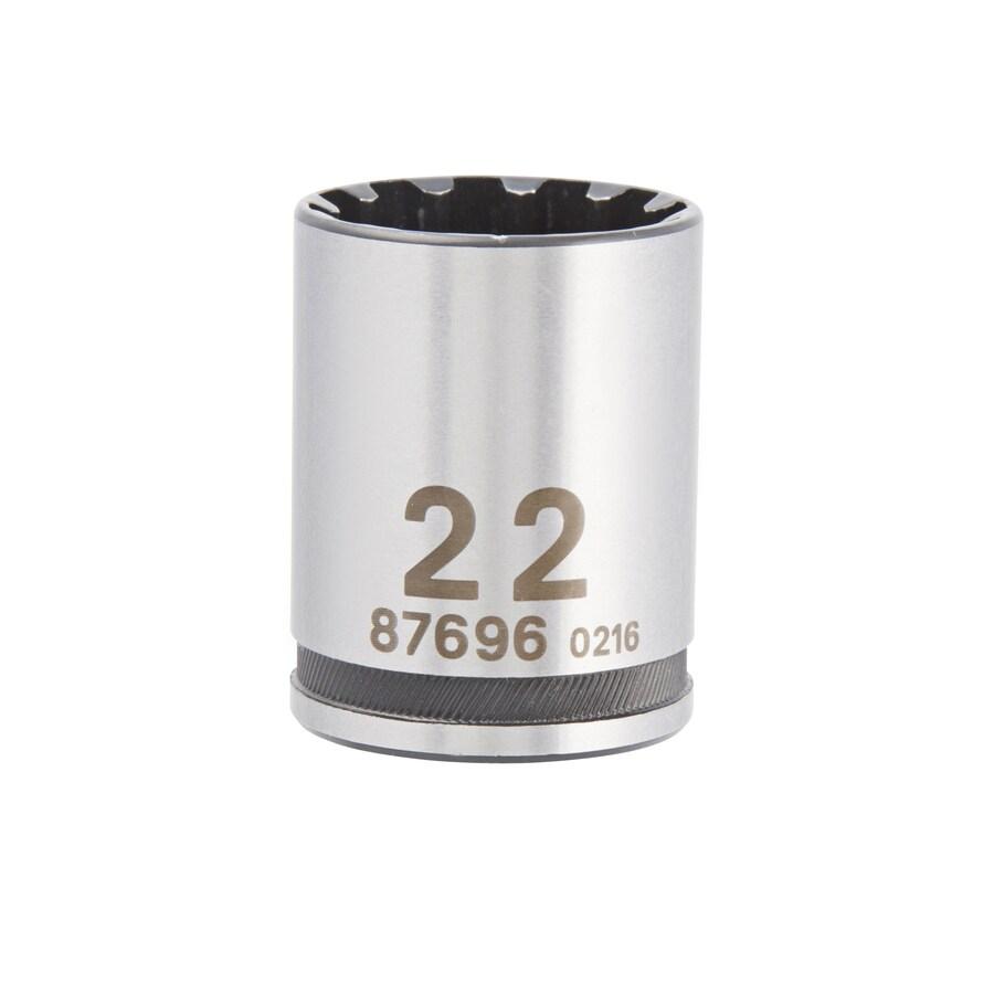Kobalt 1/2-in Drive 22mm Shallow Spline Metric Socket