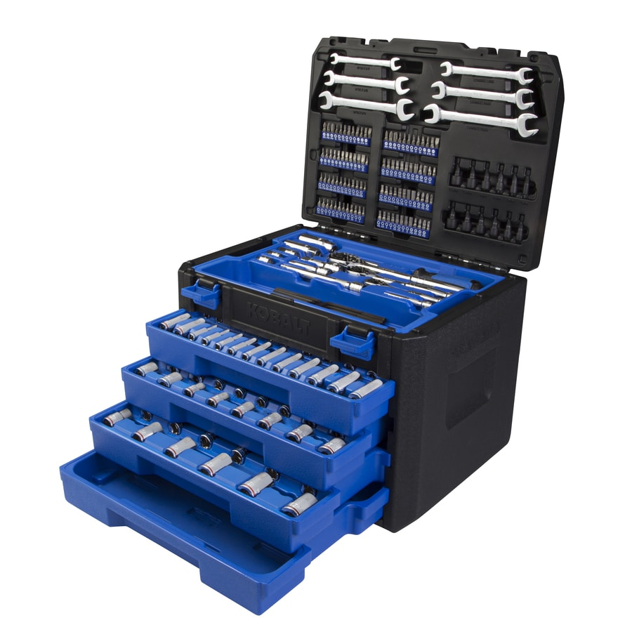 Kobalt 314-Piece Standard (SAE) and Metric Mechanic's Tool Set with Hard Case