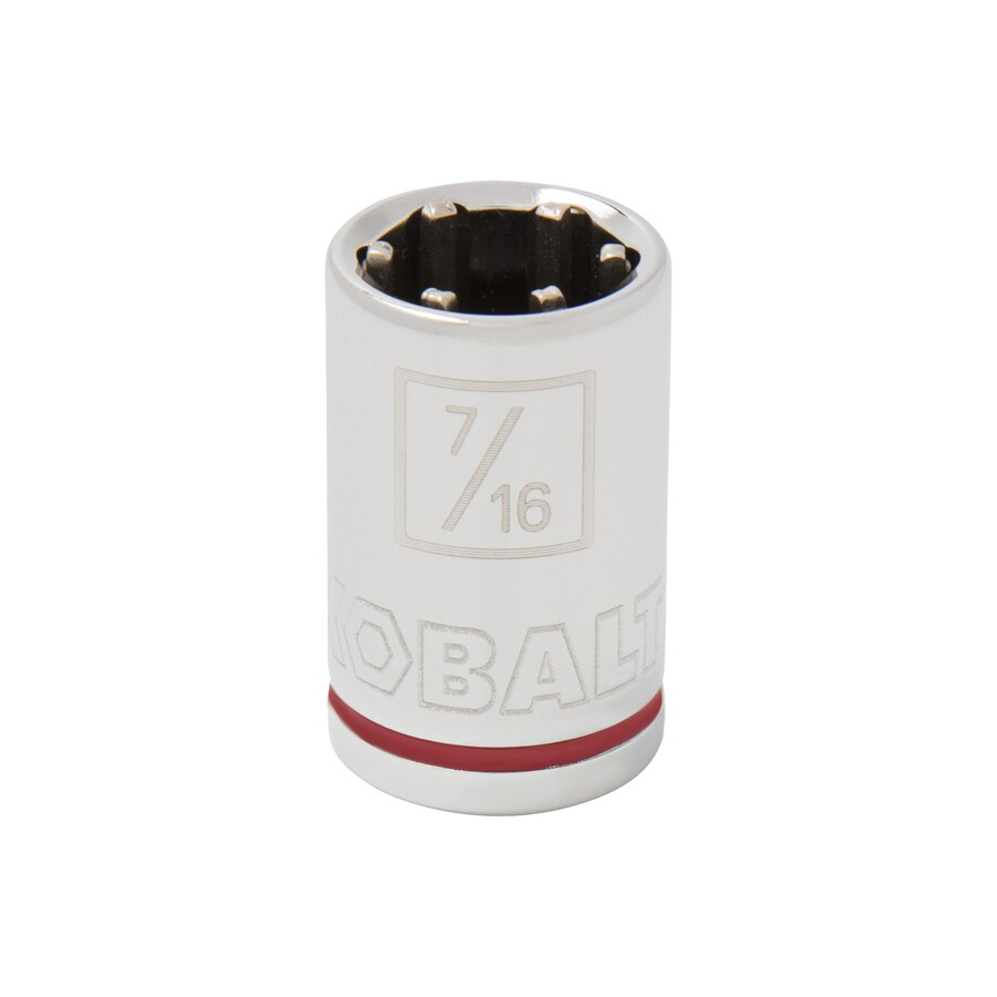 Kobalt 3/8-in Drive 7/16-in Shallow 6-Point Standard (SAE) Socket