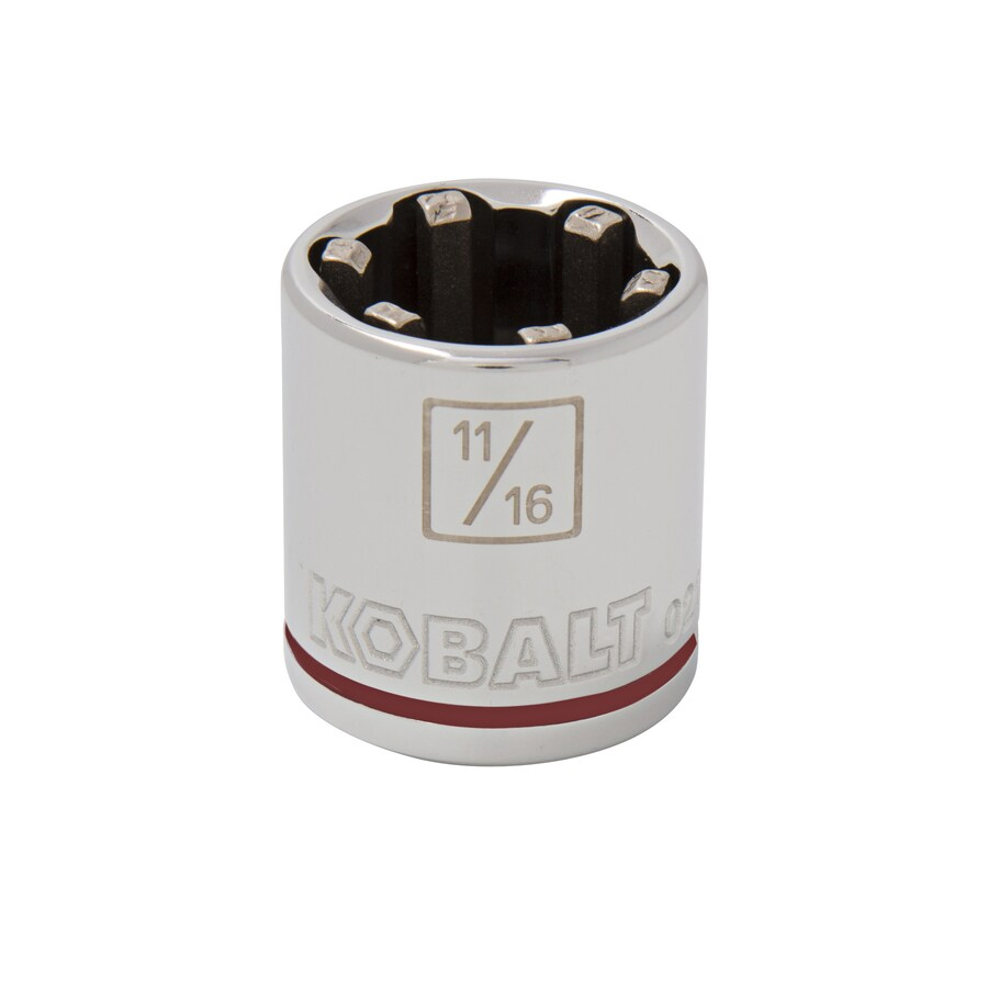 Kobalt 3/8-in Drive 11/16-in Shallow 6-Point Standard (SAE) Socket