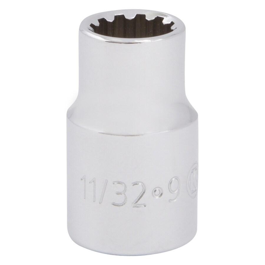 Kobalt 3/8-in Drive 11/32-in Shallow Spline Standard (SAE) Socket