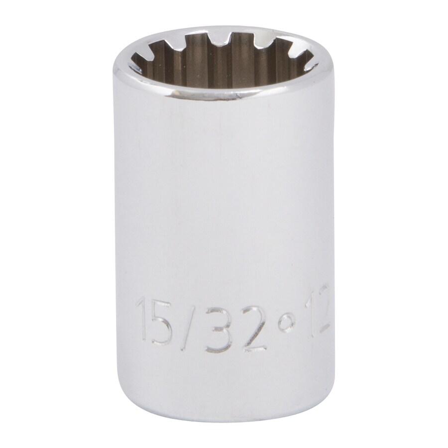 Kobalt 3/8-in Drive 15/32-in Shallow Spline Standard (SAE) Socket