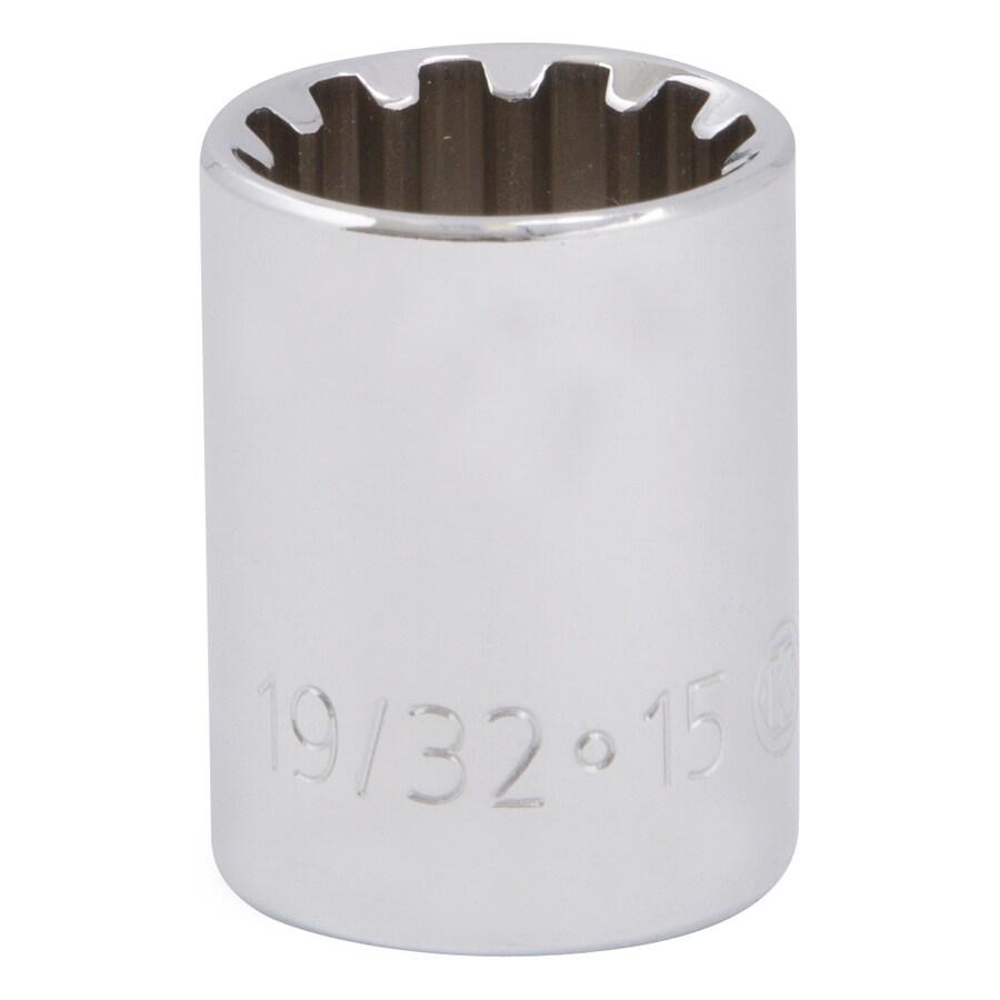 Kobalt 3/8-in Drive 19/32-in Shallow Spline Standard (SAE) Socket