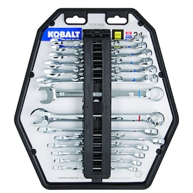 Kobalt 24-Piece 12-Point Standard (SAE) and Metric Combination Wrench Set