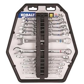 Kobalt 24-Piece Polished Chrome Standard (SAE) And Metric Combination Wrench Set