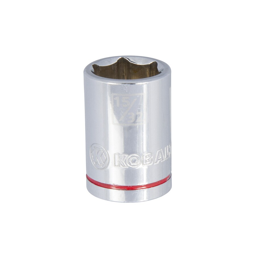 Kobalt 1/4-in Drive 15/32-in Shallow 12-Point Standard (SAE) Socket