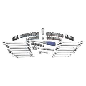 Kobalt 80-Piece Standard (SAE) and Metric Polished Chrome Mechanics Tool Set