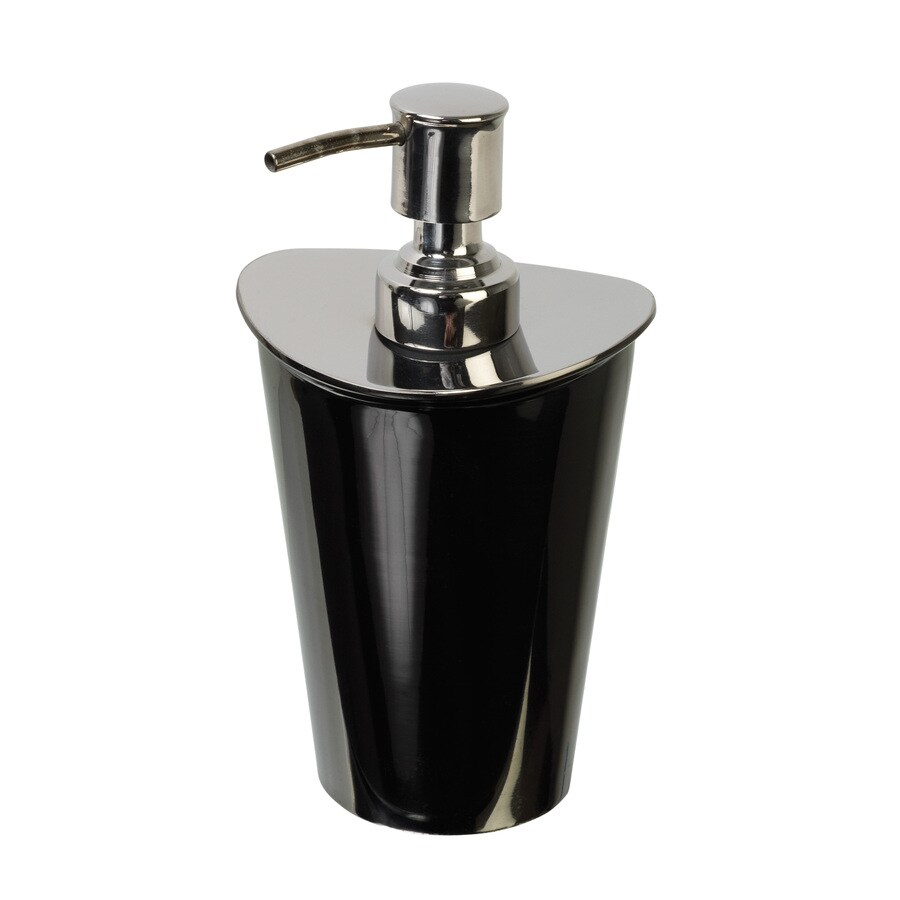 India Ink Nova Chrome and Gun Metal Soap and Lotion Dispenser