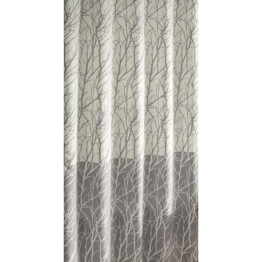 grey shower curtain liner. allen  roth Polyester Patterned Shower Curtain Shop Curtains Liners at Lowes com