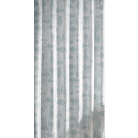 Allen Roth Polyester Soft Blue Fish Shower Curtain 70 In X 72