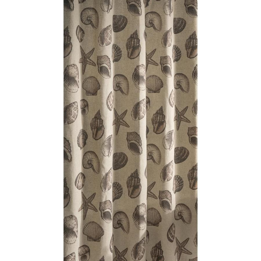 allen + roth Polyester Beige Patterned Shower Curtain