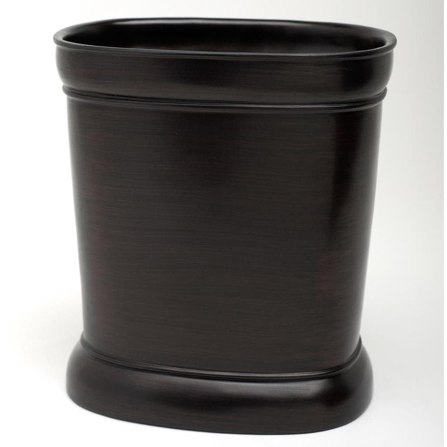 India Ink Marion Oil-Rubbed Bronze Resin Wastebasket