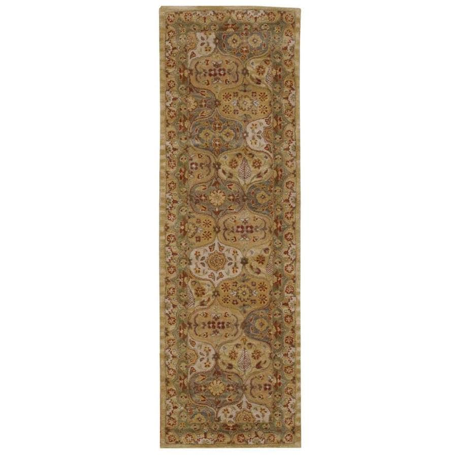 Nourison India House Multicolor Rectangular Indoor Handcrafted Oriental Area Rug (Common: 2X7; Actual: 2.3-ft W x 7.6-ft L)