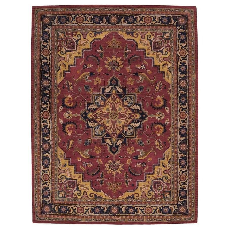Shop Nourison India House Rust Indoor Handcrafted Area Rug