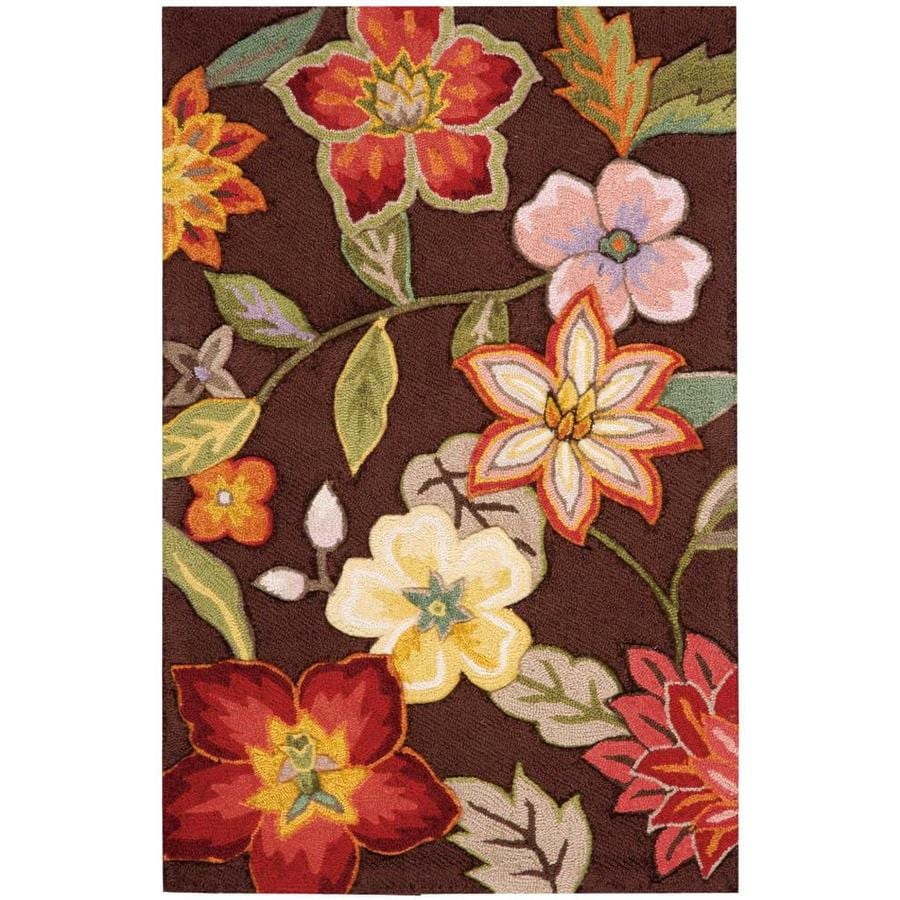 Nourison Fantasy Chocolate Indoor Handcrafted Area Rug (Common: 3 x 4; Actual: 2.5-ft W x 4-ft L)