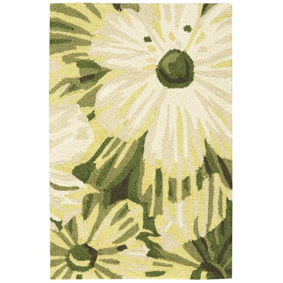 Nourison Fantasy Herb Handcrafted Area Rug (Common: 2 x 3; Actual: 1.75-ft W x 2.75-ft L)