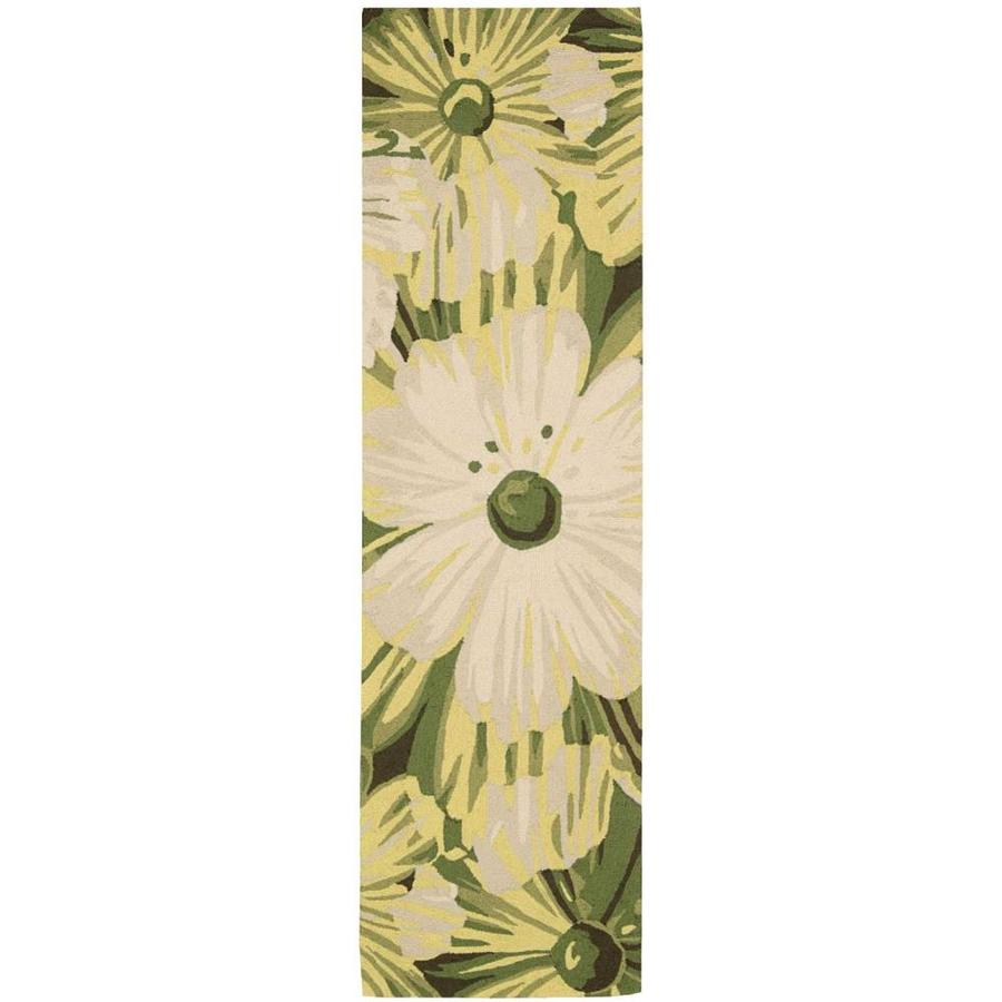 Nourison Fantasy Herb Indoor Handcrafted Area Rug (Common: 2 x 7; Actual: 2.25-ft W x 8-ft L)