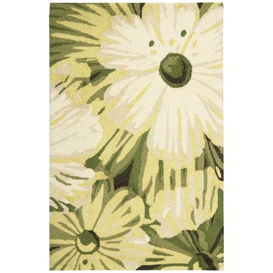 Nourison Fantasy Herb Rectangular Indoor Handcrafted Area Rug (Common: 3 x 4; Actual: 2.5-ft W x 4-ft L x 0.5-ft dia)