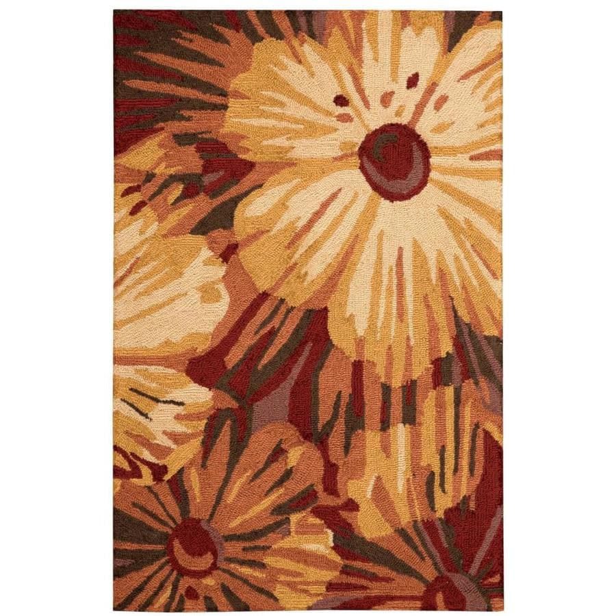 Nourison Fantasy Cayenne Rectangular Indoor Handcrafted Area Rug (Common: 3 x 4; Actual: 2.5-ft W x 4-ft L x 0.5-ft dia)