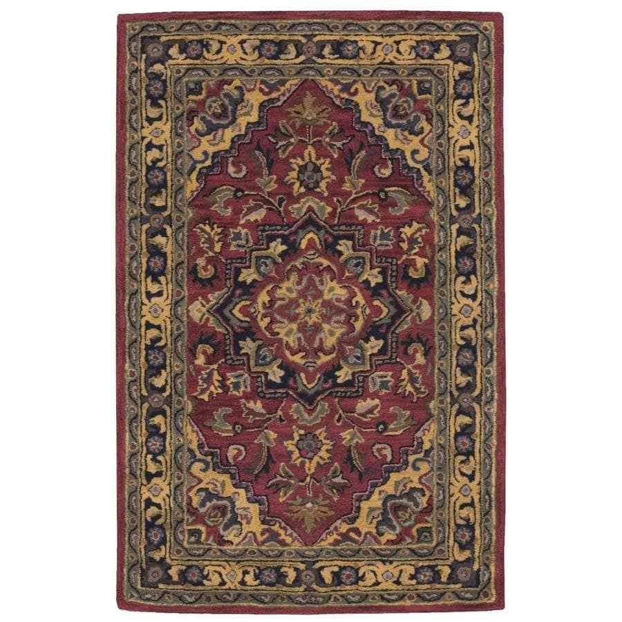 Nourison India House Rust Handcrafted Area Rug (Common: 3 x 4; Actual: 2.5-ft W x 4-ft L)