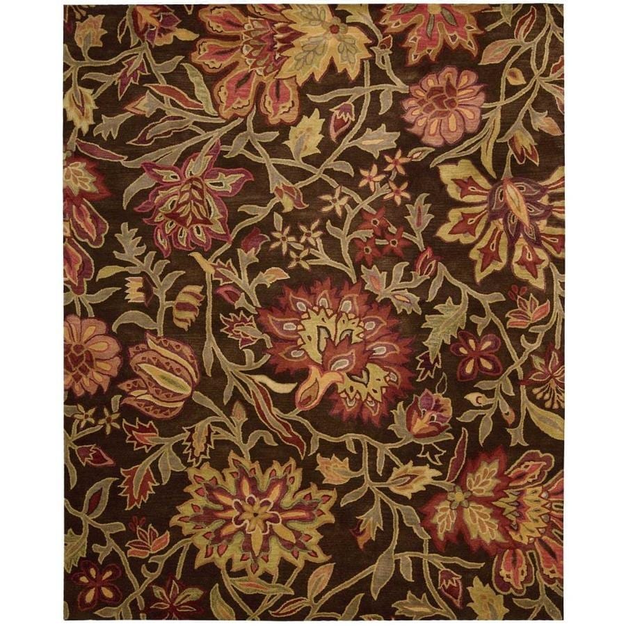 Nourison Jaipur Chocolate Indoor Handcrafted Area Rug (Common: 8 x 11; Actual: 8.25-ft W x 11.5-ft L)