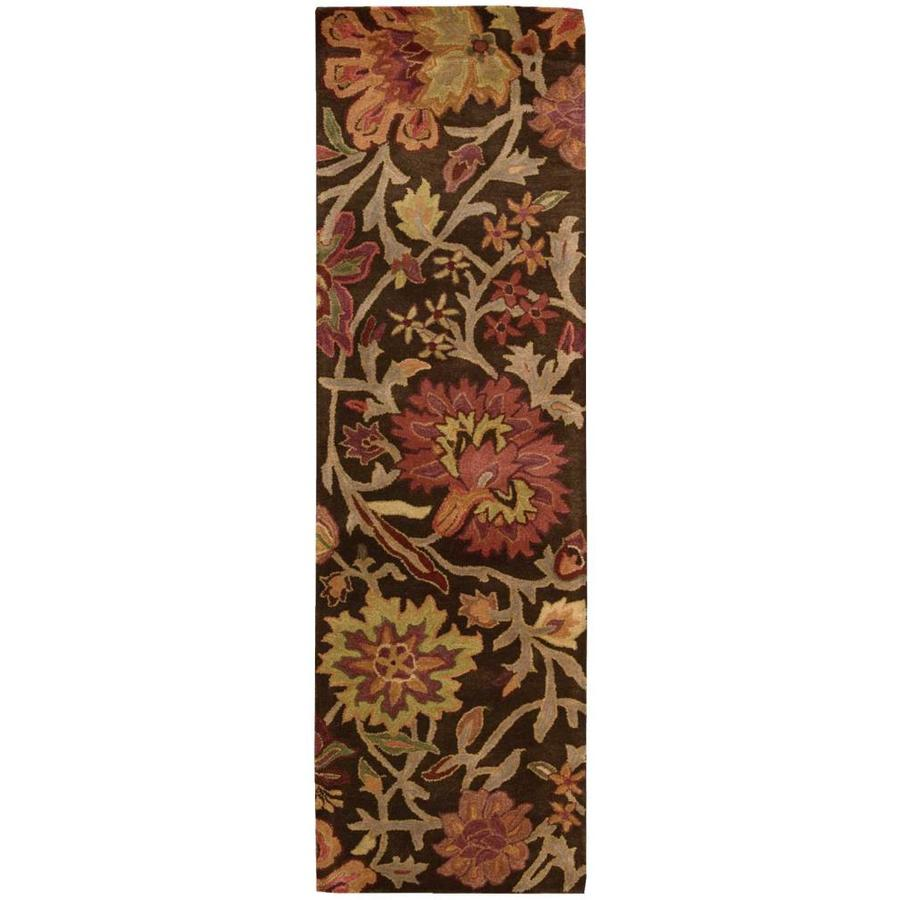 Nourison Jaipur Chocolate Indoor Handcrafted Area Rug (Common: 2 x 8; Actual: 2.33-ft W x 8-ft L x 0.75-ft dia)