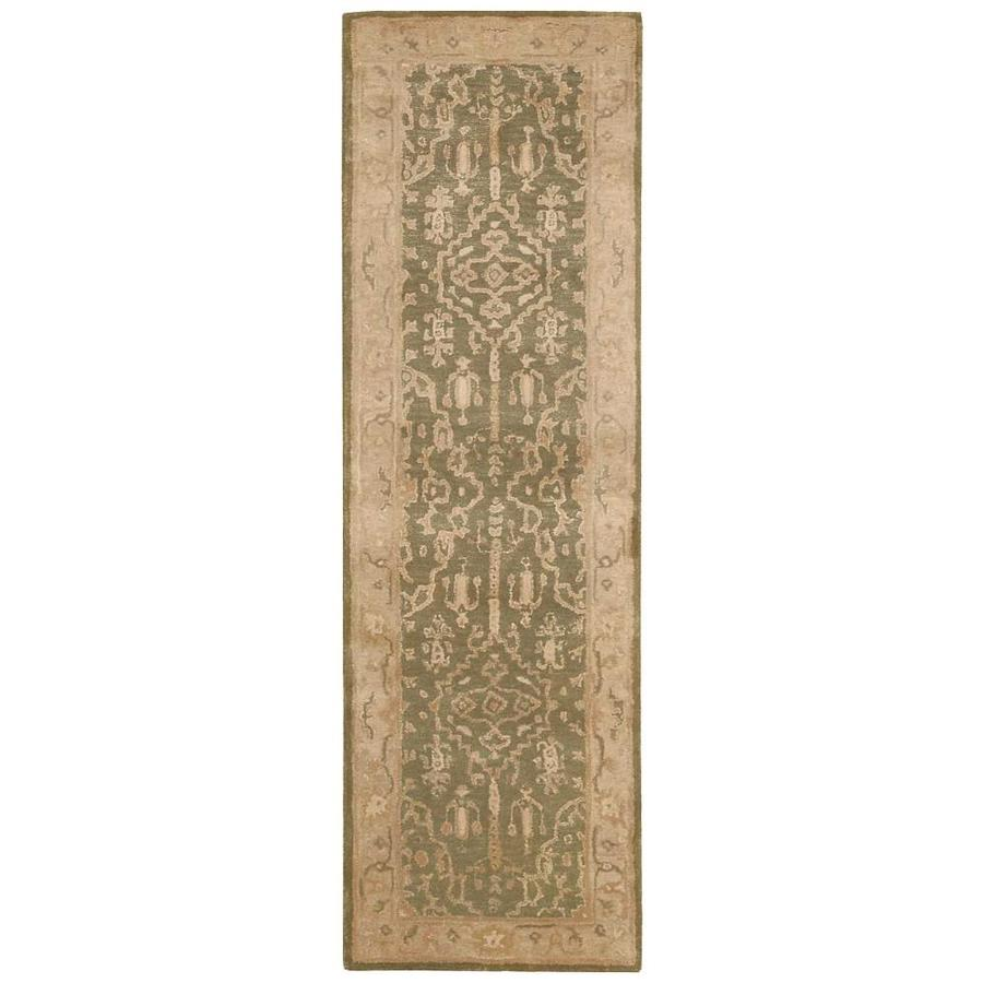 Nourison Jaipur Kiwi Indoor Handcrafted Area Rug (Common: 2 x 8; Actual: 2.3333-ft W x 8-ft L)