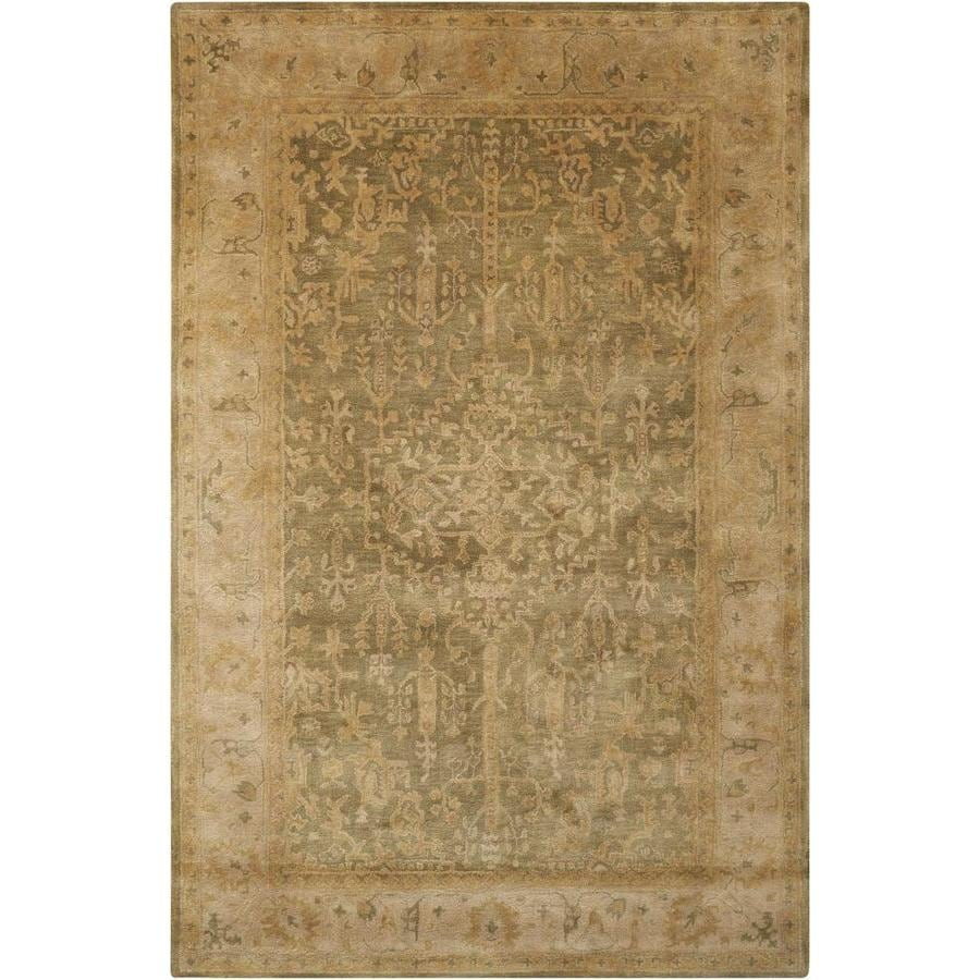 Nourison Jaipur Kiwi Rectangular Indoor Handcrafted Area Rug (Common: 3 x 5; Actual: 3.75-ft W x 5.75-ft L x 0.75-ft dia)