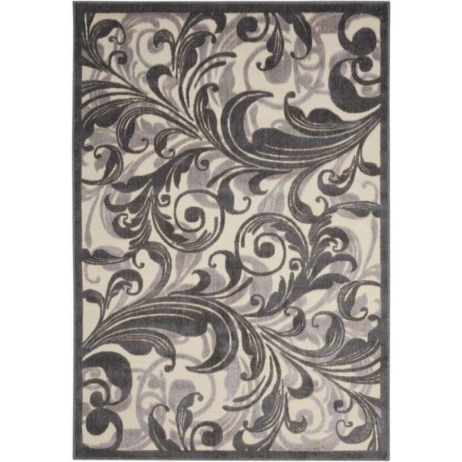 Nourison Graphic Illusions Multicolor Rectangular Indoor Area Rug (Common: 2 x 4; Actual: 2.25-ft W x 3.75-ft L x 0.5-ft dia)