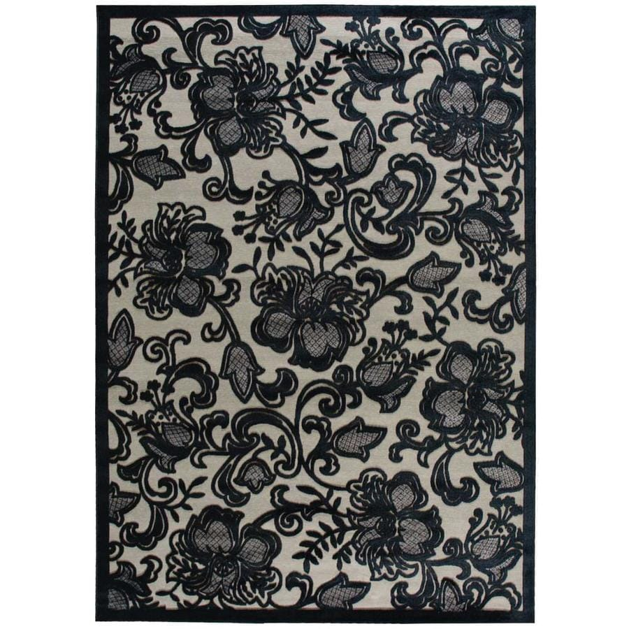 Nourison Graphic Illusions Pewter Area Rug (Common: 8 x 10; Actual: 7.75-ft W x 10.83-ft L)