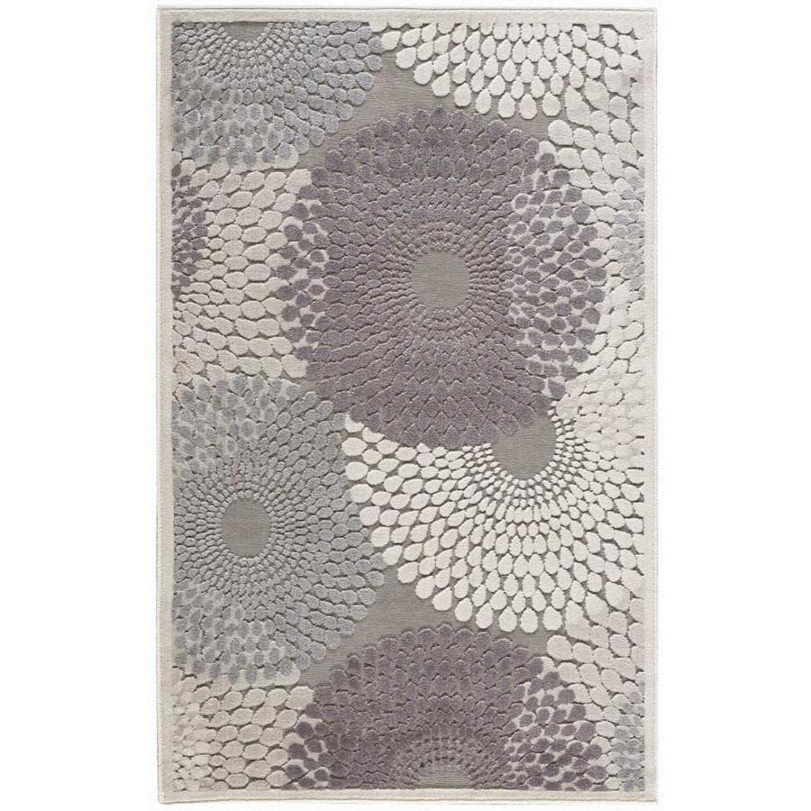 Nourison Graphic Illusions Gray Indoor Area Rug (Common: 2 x 4; Actual: 2.25-ft W x 3.75-ft L)