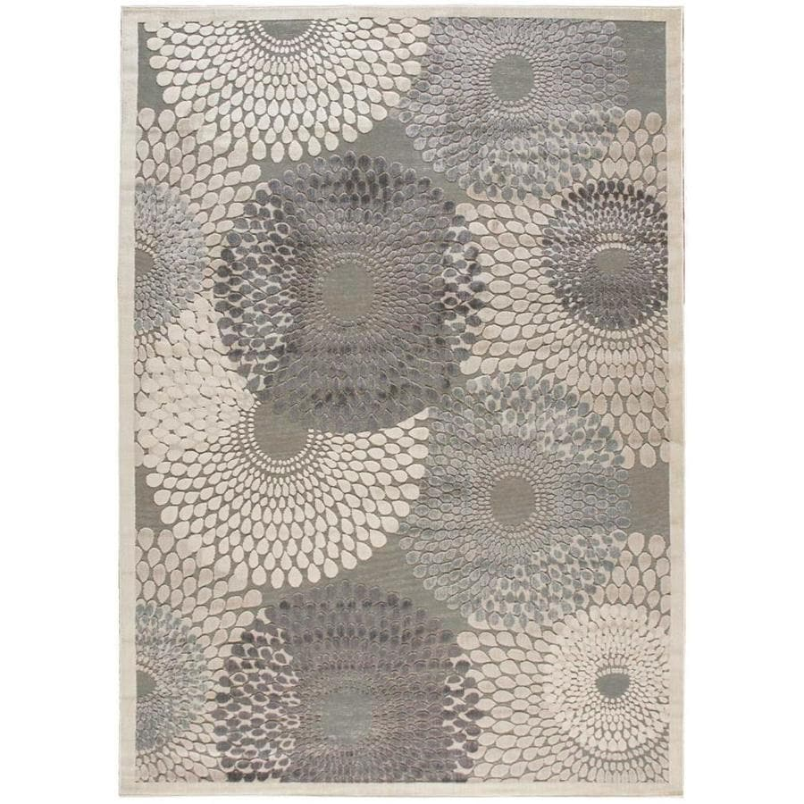 Black Graphic Woven Emerson Indoor Outdoor Area Rug: Nourison Graphic Illusions Gray Indoor Area Rug (Common: 8