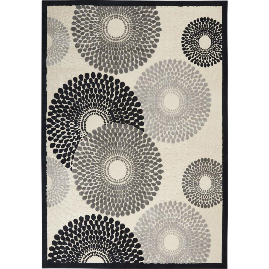Nourison Graphic Illusions Parchment Rectangular Indoor Area Rug (Common: 2 x 4; Actual: 2.25-ft W x 3.75-ft L x 0.5-ft dia)