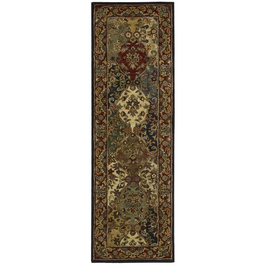 Nourison India House Multicolor Tufted Wool Runner (Common: 2-ft x 8-ft; Actual: 2.25-ft x 7.5-ft)