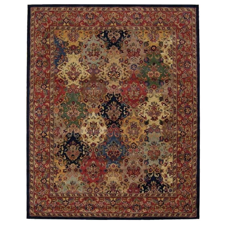 Nourison India House Multicolor Rectangular Indoor Handcrafted Oriental Area Rug (Common: 8 x 10; Actual: 8-ft W x 10.6-ft L)