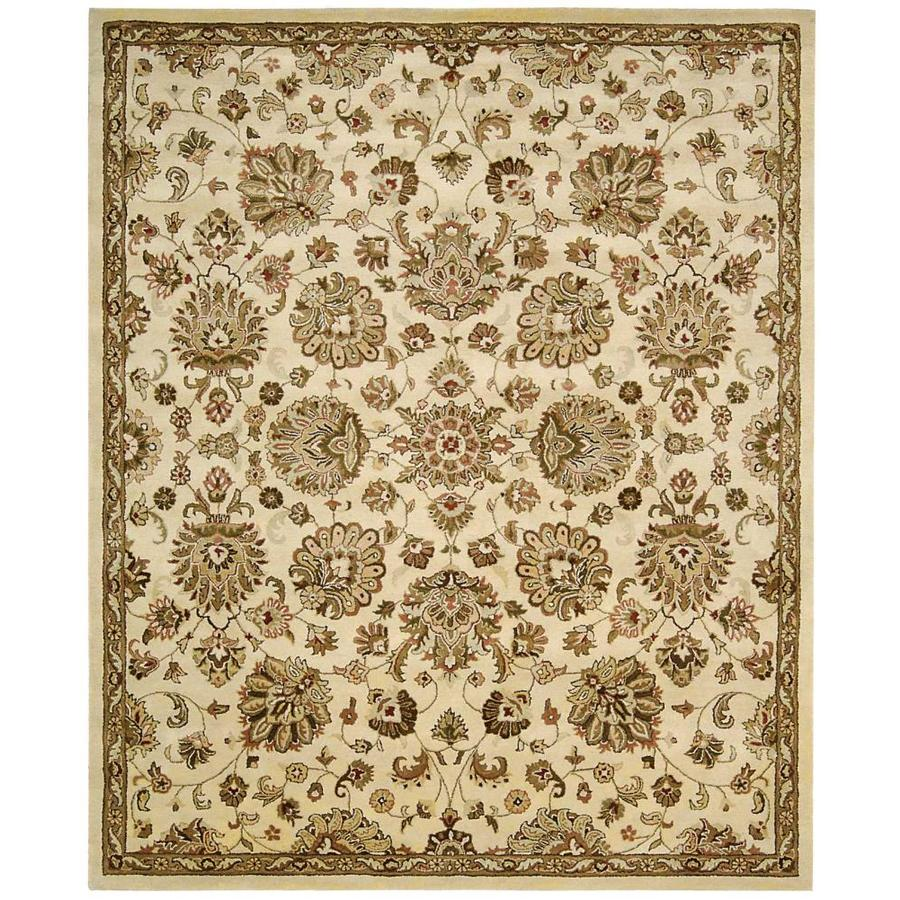Nourison Jaipur Ivory Indoor Handcrafted Area Rug (Common: 8 x 10; Actual: 7.75-ft W x 9.75-ft L x 0.75-ft dia)