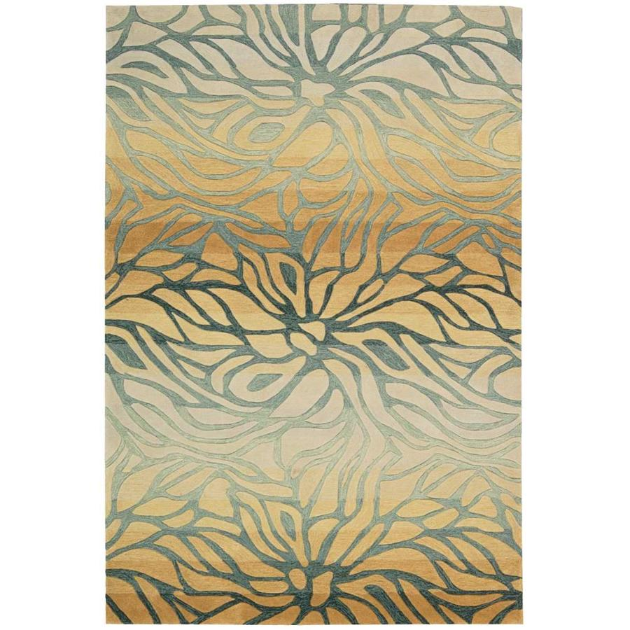 Nourison Contour Breeze Indoor Handcrafted Area Rug (Common: 3 x 5; Actual: 3.5-ft W x 5.5-ft L)