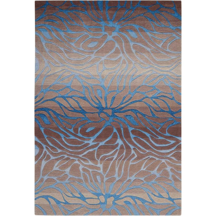 Nourison Contour Ocean Sand Rectangular Indoor Handcrafted Area Rug (Common: 8 x 10; Actual: 8-ft W x 10.5-ft L x 0.5-ft dia)