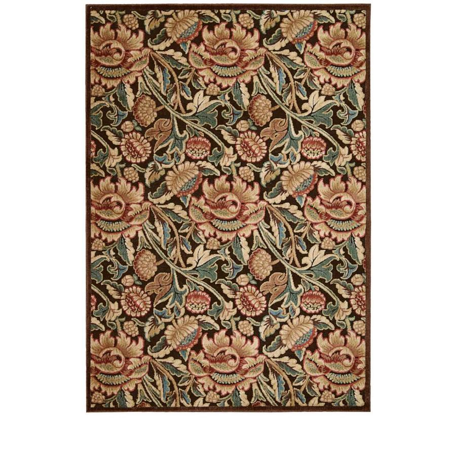 Nourison Graphic Illusions Brown Indoor Area Rug (Common: 5 x 7; Actual: 5.25-ft W x 7.4167-ft L)