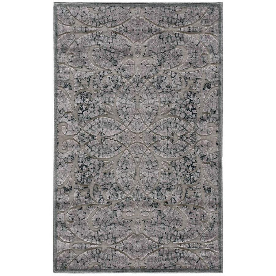 Nourison Graphic Illusions Gray Indoor Area Rug (Common: 3 x 5; Actual: 3.5-ft W x 5.5-ft L)