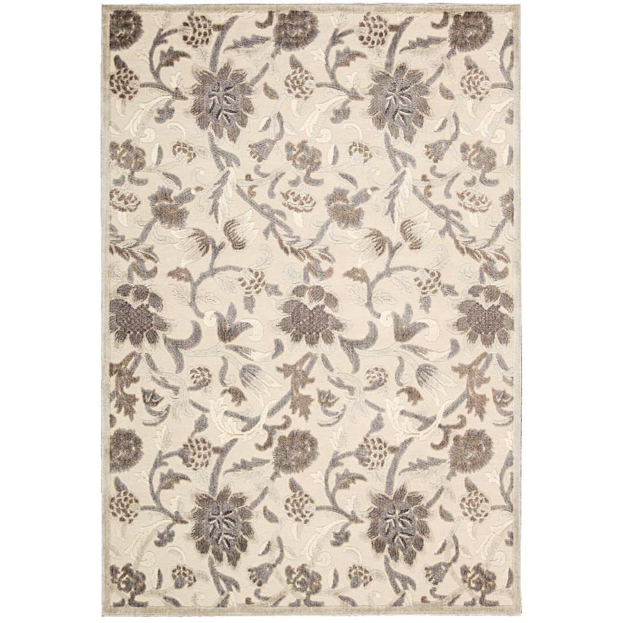 Nourison GRAPHIC ILLUSIONS Ivory  Indoor  Nature Area Rug (Common: 3 x 5; Actual: 3-ft W x 5-ft L)