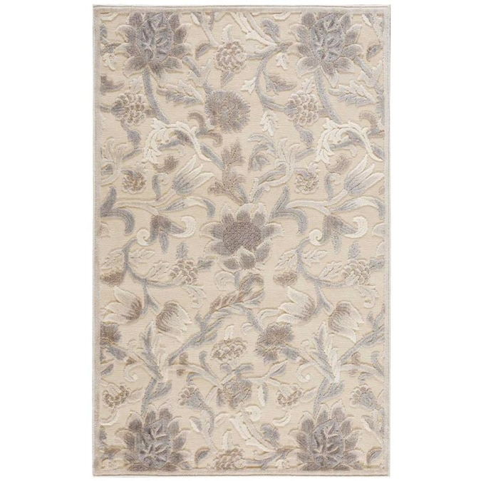 Nourison Graphic Illusions 2 X 4 Ivory Indoor Abstract French Country Area Rug In The Rugs Department At Lowes Com